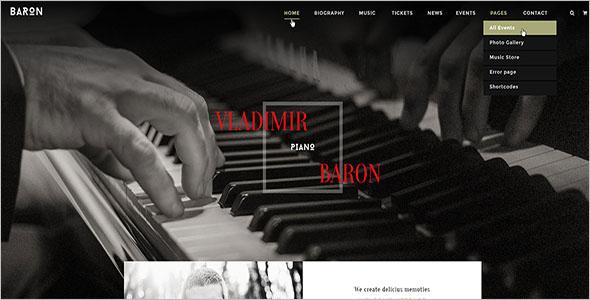 Responsive Joomla Template For Music