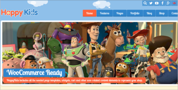 Responsive Kindergarten Website Template