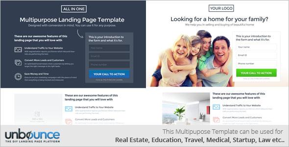 Responsive Multipurpose Landing Page Template