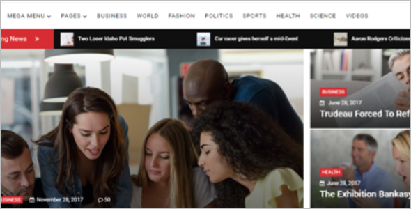 Responsive News Website Template