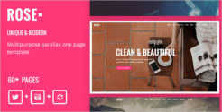 Responsive One Page Drupal 8 Theme