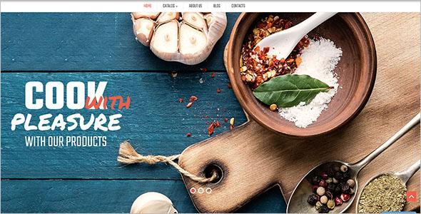 Responsive Restaurant VirtueMart Theme