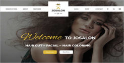 Responsive Salon Shop Joomla Template
