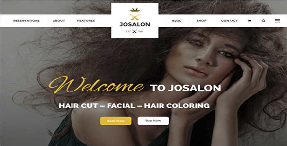 Responsive Salon Shop Joomla Template