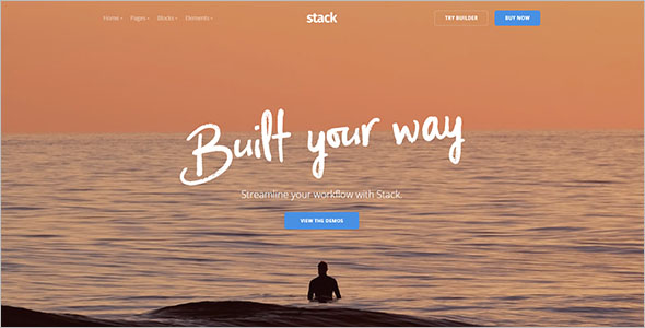 Responsive Static HTML Template