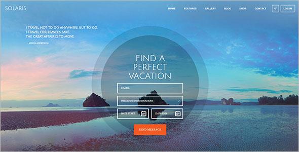 Responsive Travel Agency WordPress Theme