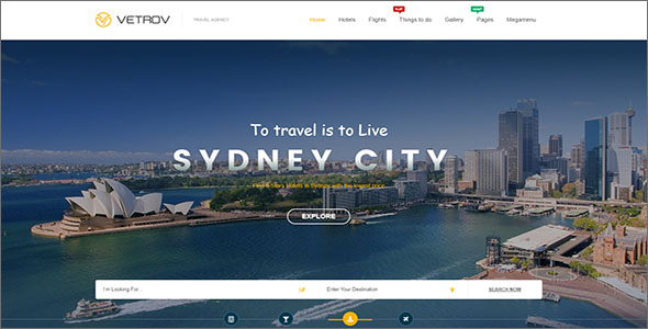 Responsive Travel HTML Template