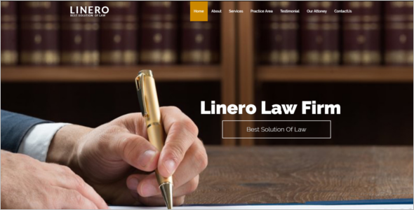 Responsive Website Template Law Firm