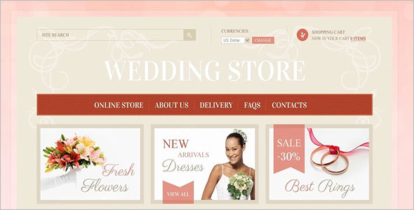 Responsive Wedding VirtueMart Theme