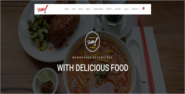 Restaurant & Bakery WordPress Theme