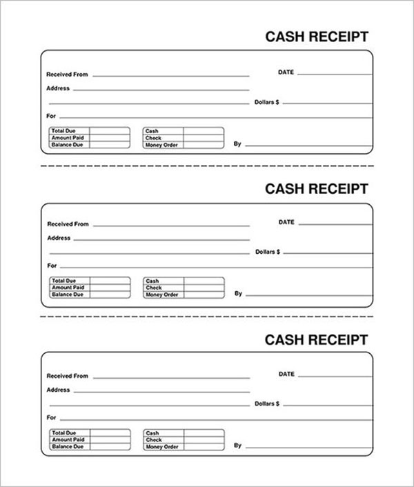 Restaurant Cash Receipt Template