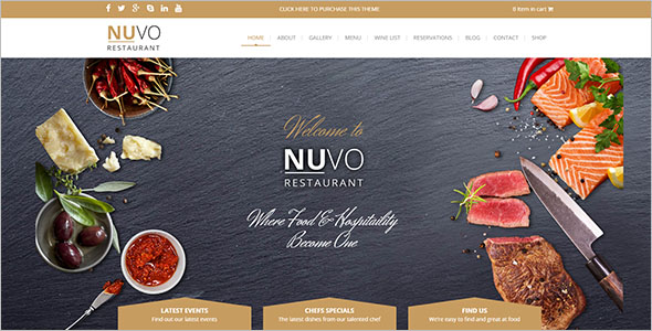 Restaurant Drupal Food Template