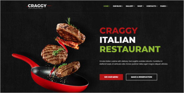 Restaurant Food Ordering Website Template