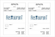 Restaurant Order Receipt Template