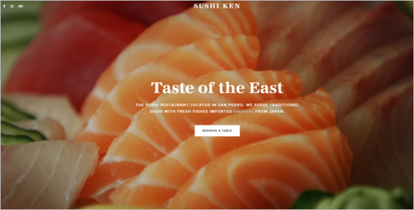 Restaurant Cafe Website Theme