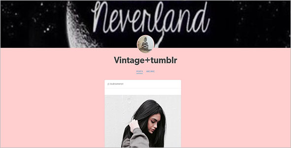 Retro Tumblr Theme