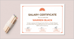 16+ Sample Salary Certificate Templates
