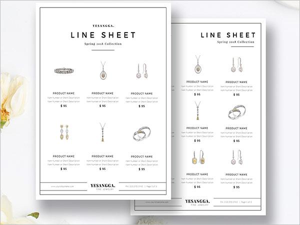 Sales Sheet Template Illustrator