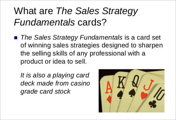 Sales Strategy Fundamentals Example