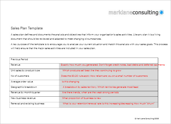Sales Strategy Template Free Download