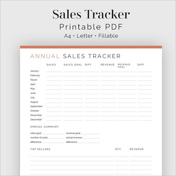 Sales Tracking Database Template