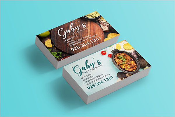 Sample Catering Service Business Card Design