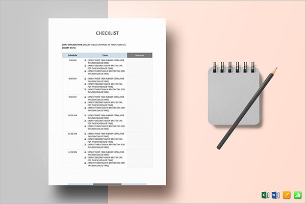 Sample Checklist Template