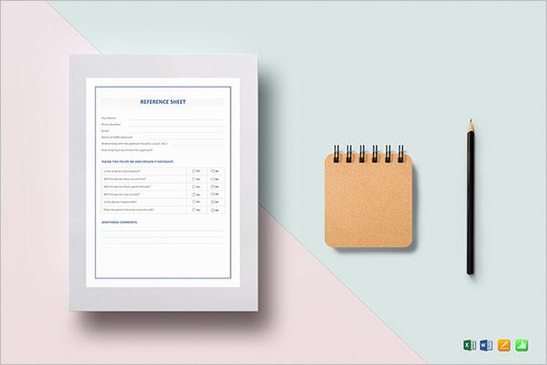 Sample Contact Sheet Template