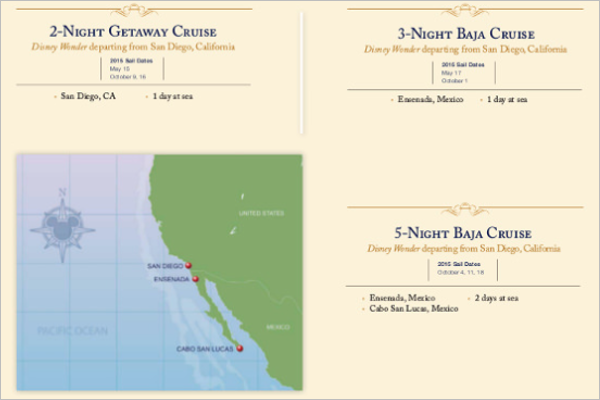 Sample Disney Cruise Itinerary Template