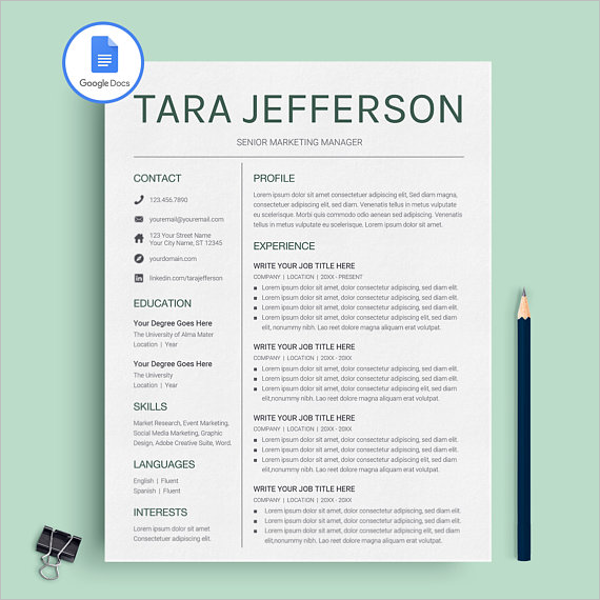 Sample Google Docs Template