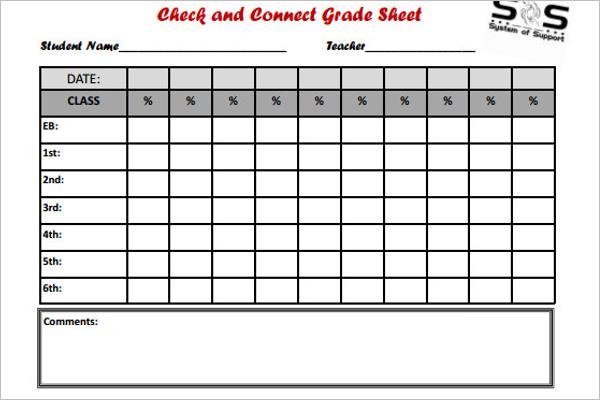 Sample Grade Sheet Template PDF