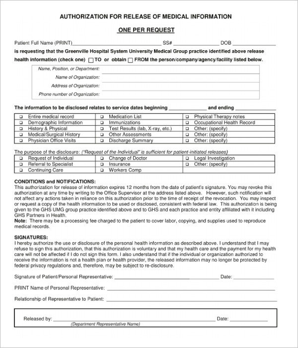 Sample Medical Receipt Template