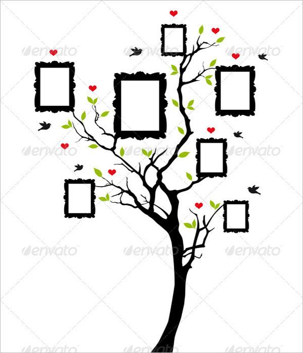 Sample Photo Family Tree Template