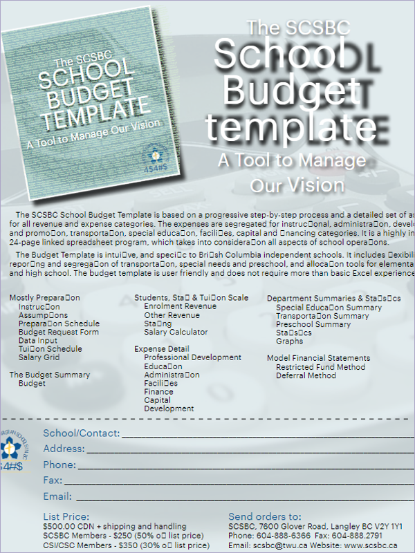 Sample School Budget Template