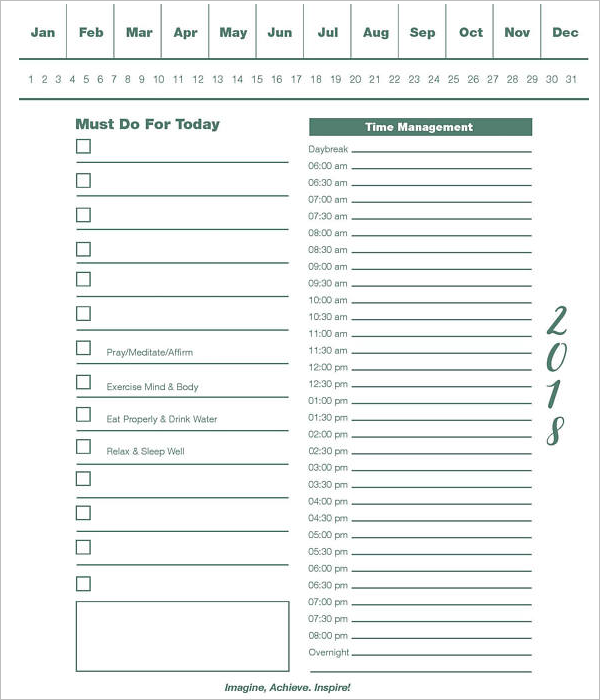 Sample Time Tracking Template