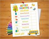 School Daily Checklist Template
