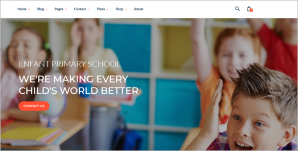 School & Kindergarten Website Template