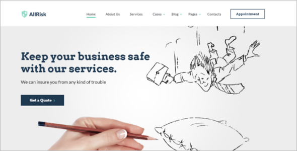 Scrolling One Page Website Template