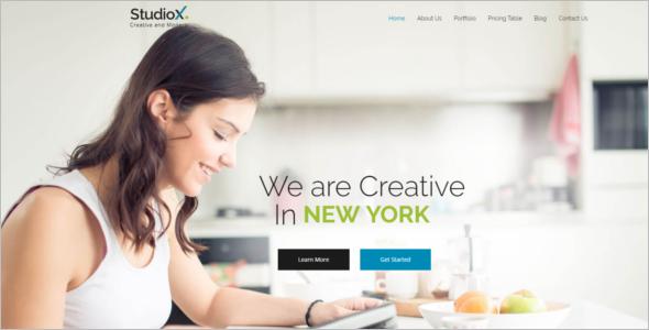 Scrolling Website HTML Template