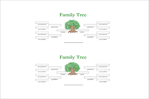 simple 4 generation family tree template