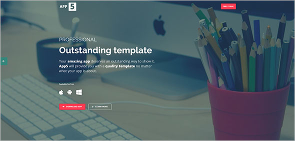 Simple App Landing Page Template