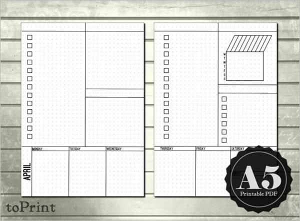 Simple Blank Checklist Template