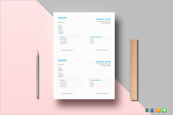Simple Contractor Receipt Template