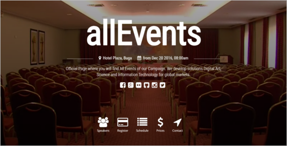 Simple Event Management Website Theme