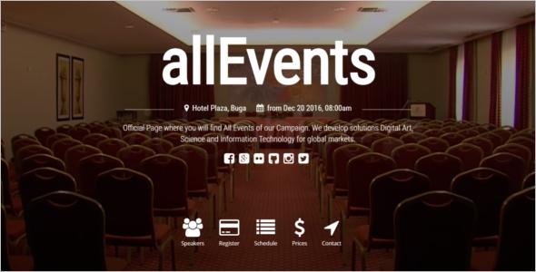 Simple Event Management Website Theme