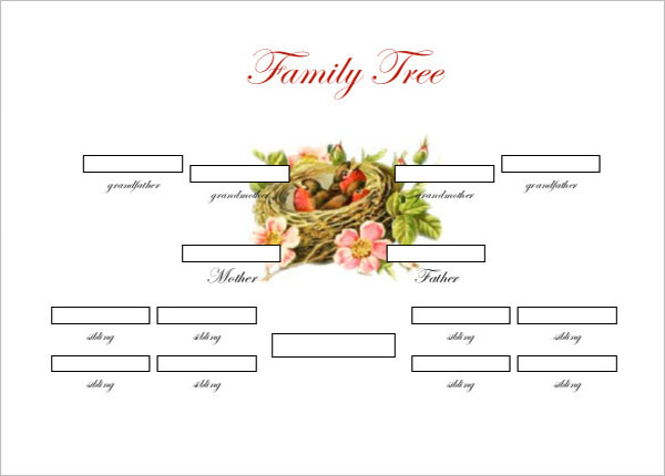 Simple Family Tree Diagram Template