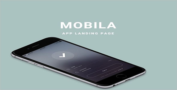 Simple Mobile App Landing Page Template