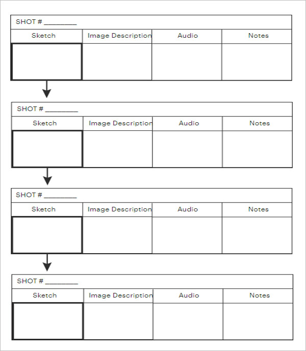 Simple Storyboard PDF Template