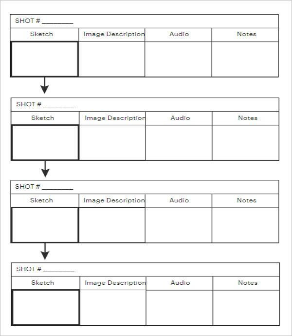 Simple Storyboard PDF Template