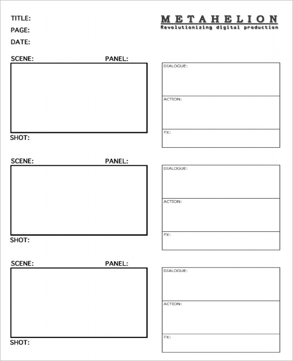 Simple Storyboard Template Download